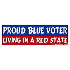Blue Voter Red State Bumper Bumper Sticker