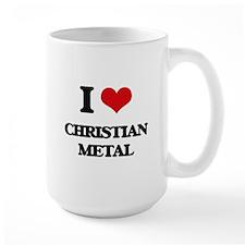 I Love CHRISTIAN METAL Mugs