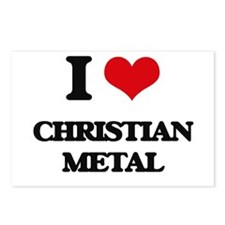 I Love CHRISTIAN METAL Postcards (Package of 8)