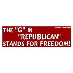Republican Freedom Bumper Bumper Sticker