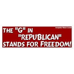 Republican Freedom Bumper Bumper Sticker