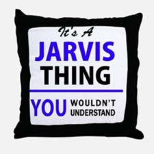 Funny Jarvis Throw Pillow