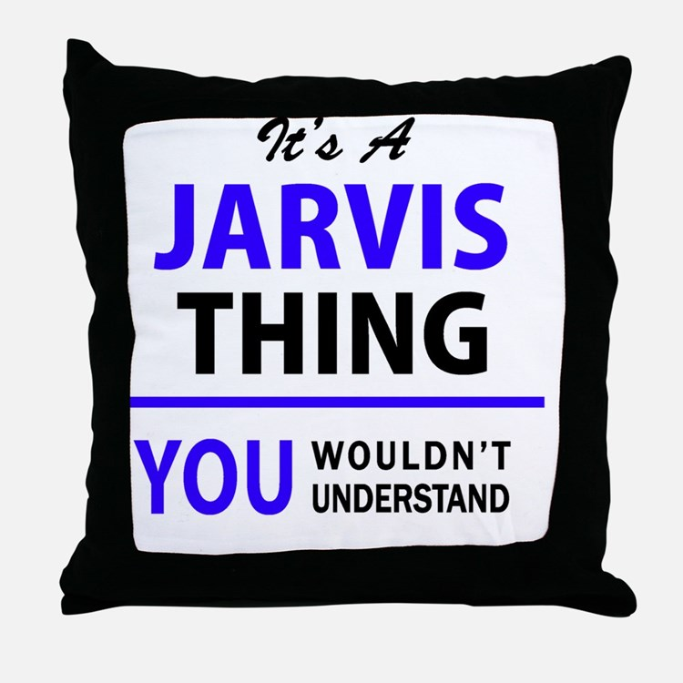 Cute Jarvis Throw Pillow