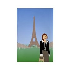 Samantha in Paris Rectangle Magnet