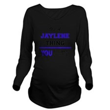 Cute Jaylene Long Sleeve Maternity T-Shirt
