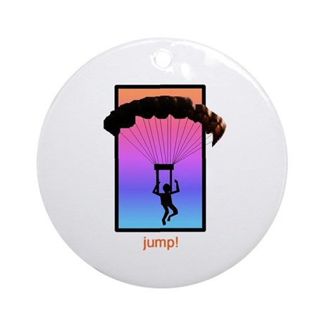 Sunset Skydiver Ornament (Round)