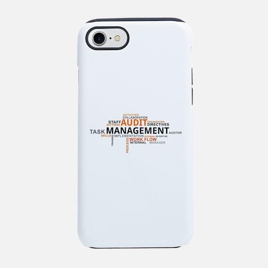 word cloud - audit management iPhone 7 Tough Case