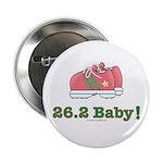 26.2 Baby Marathon Pink Green Running Shoes Button