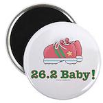 26.2 Baby Marathon Pink Running Shoes Magnet