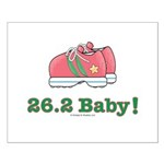 26.2 Baby Marathon Pink Running Shoes Poster