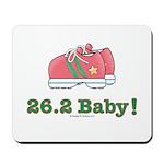 26.2 Baby Marathon Pink Running Shoes Mousepad