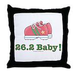 26.2 Baby Marathon Pink Running Shoes Throw Pillow
