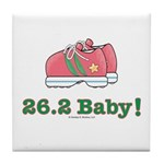 26.2 Baby Marathon Pink Running Shoes Tile Coaster