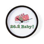 26.2 Baby Marathon Pink Running Shoes Wall Clock