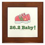 26.2 Baby Marathon Pink Running Shoes Framed Tile