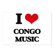 I Love CONGO MUSIC Postcards (Package of 8)