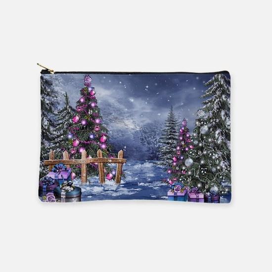 Christmas Landscape Makeup Pouch