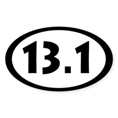 13.1 Miles Oval Sticker
