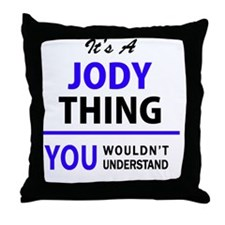 Funny Jody Throw Pillow
