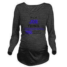 Cute Joe Long Sleeve Maternity T-Shirt