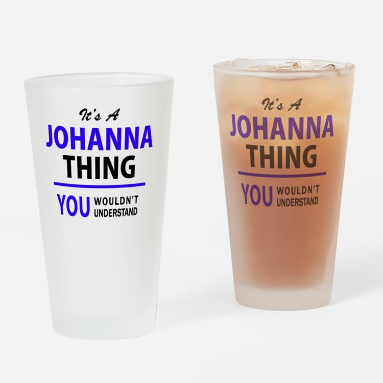 Cute Johanna Drinking Glass