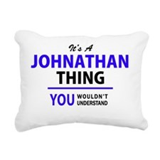 Cute Johnathan Rectangular Canvas Pillow