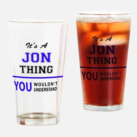 Cool Jon Drinking Glass
