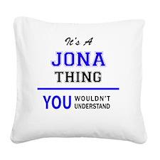 Unique Jonas Square Canvas Pillow