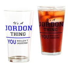 Cute Jordon Drinking Glass