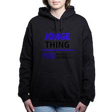 Unique Jorge Women's Hooded Sweatshirt