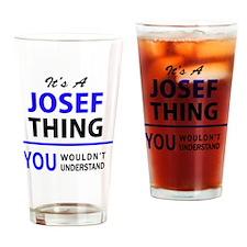 Cute Josef Drinking Glass