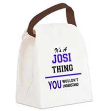 Funny Josie Canvas Lunch Bag