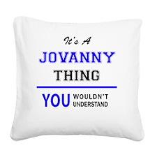 Cute Jovanny Square Canvas Pillow