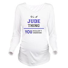 Cute Jude Long Sleeve Maternity T-Shirt