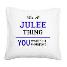 Unique Jules Square Canvas Pillow