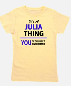 Cute Julia Girl's Tee