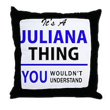 Cute Juliana Throw Pillow