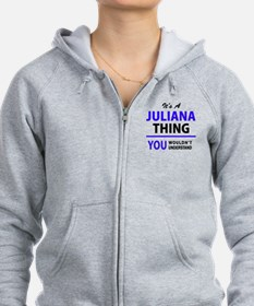 Unique Juliana Zipped Hoody