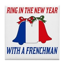 French New Years Tile Coaster