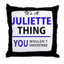 Unique Juliette Throw Pillow