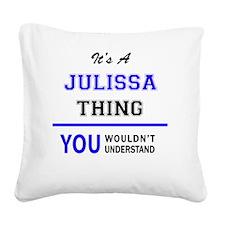 Cute Julissa Square Canvas Pillow