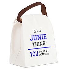 Cute Junie Canvas Lunch Bag