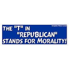 Republican Morality Bumper Bumper Sticker