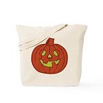 Grinning Halloween Pumpkin Tote Bag