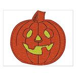 Grinning Halloween Pumpkin Small Poster
