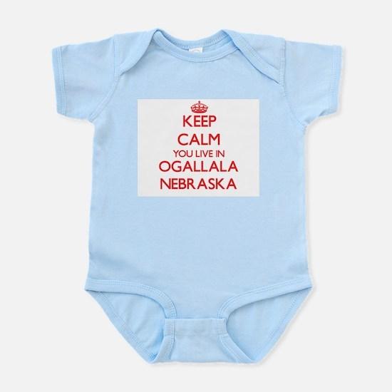 Keep calm you live in Ogallala Nebraska Body Suit