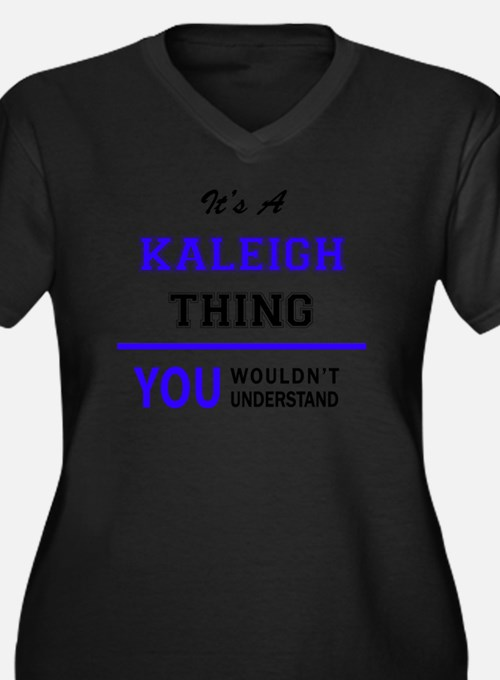 Cute Kaleigh Women's Plus Size V-Neck Dark T-Shirt