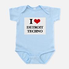 I Love DETROIT TECHNO Body Suit