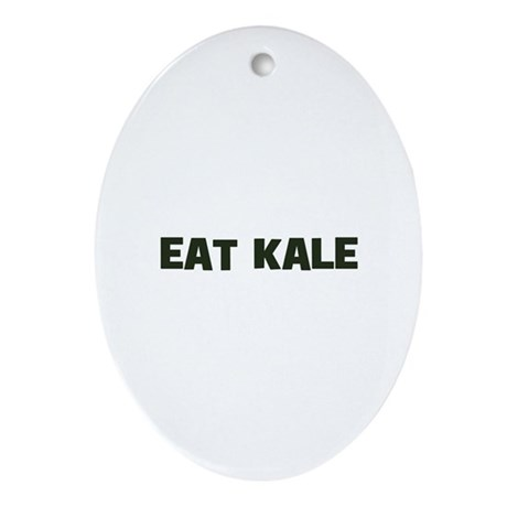 eat kale Oval Ornament