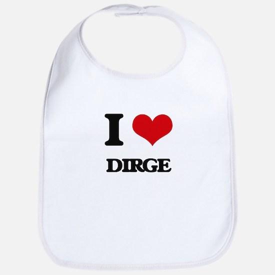 I Love DIRGE Bib